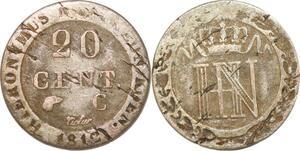 P0168 Germany Westphalia 20 Centimes Jerome Napoleon 1812 C Cassel Silver