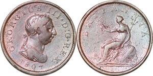 P0173 UK Penny George III 1807 KM 663 -> Make offer