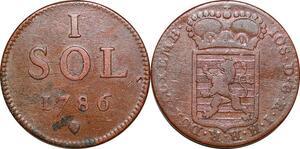 P0197 Luxembourg 1 Sol Joseph II 1786  -> Make offer