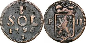 P0198 Luxembourg 1 Sol Franz II 1795 -> Make offer