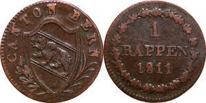 P0203 Swiss Bern Cantons 1 rappen Bear 1811 -> Make offer