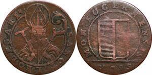 P0206 Swiss Switzerland Lucernz Cantons 1 Shilling 1795 -> Make offer