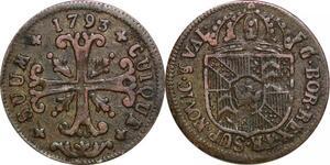 P0212 Swiss Neuchâtel Cantons 1/2 Batzen Friedrich Wilhelm II 1793