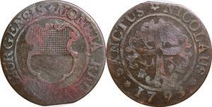 P0215 Swiss Fribourg cantons 2 Kreuzer 1793 -> Make offer