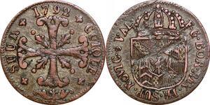P0216 Swiss Neuchâtel Cantons 1/2 Batzen Friedrich Wilhelm II 1792