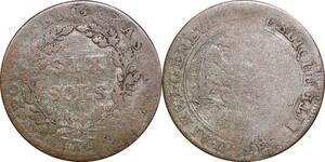 P0217 Switzerland Swiss Geneva Cantons 6 Sols 1797 -> Make offer