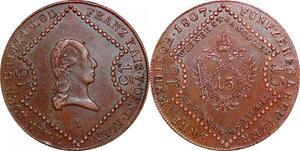 P0236 Austria Habsburg 15 Kreutzer Franz II 1807 A Vienna AU -> Make offer