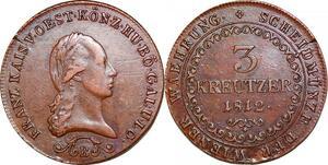 P0241 Austria Habsburg 3 Kreutzer Franz I 1812 B Kremnica AU -> Make offer