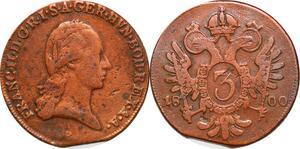 P0247 Austria Habsburg 3 Kreuzer Franz II 1800 B Kremnica -> Make offer