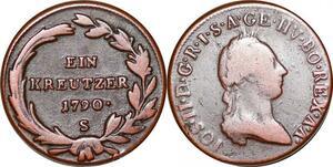 P0250 Austria  Habsburg Kreutzer Joseph II 1790 S Schmöllnitz -> Make offer