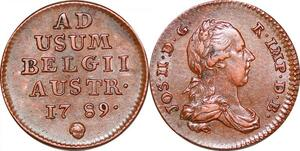P0264 Scarce Austrian Netherlands Liard Oorden Joseph II 1789 Bruxelles UNC