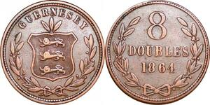 P0282 Guernsey  8 Doubles 1864 -> Make offer