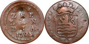 P0291 Dutch Republic Netherlands Duit Zee Lan Dia 1792 = Make offer