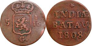 P0307 Netherlands East Indies Indonesia Duit Batavia 1808 -> Make offer