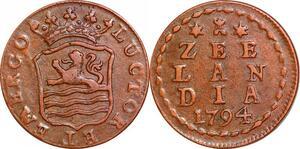 P0312 Dutch Republic Netherlands Zee Lan Dia Zee Lan Dia Duit 1794