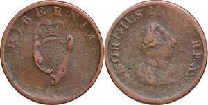 P0313 Ireland Half penny George III 1805 -> Make offer
