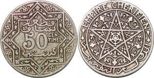 P0358 Morocco 50 Centimes Yusuf AH 1921 1924 -> Make offer