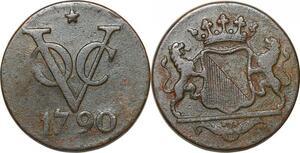 P0381 Netherlands East Indies Indonesia 2 Duit Utrecht 1790 -> Make offer