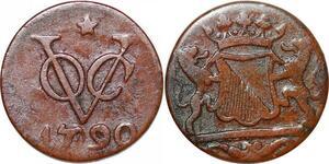 P0385 Netherlands East Indies Indonesia Duit Utrecht 1790 -> Make offer
