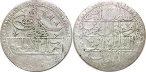 P0392 Empire Ottoman 100 Para Yuzluk Selim III 1203 / 3 1791 Silver