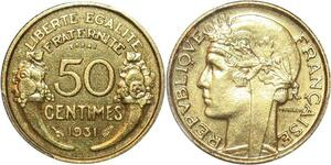 P0423 Rare 50 centimes Essai Piefort Morlon 1931 PCGS SP65 La plus belle connue