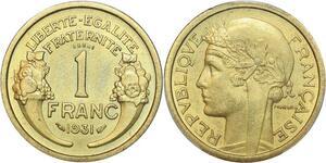 P0429 Rare 1 franc Essai Piefort Morlon 1931 PCGS SP65 -> Make offer