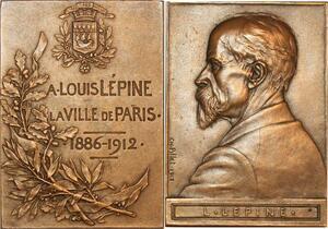 P0462 Rare Plaque Concours Louis Lepine Ville Paris 1912 Ch Pillet SUP