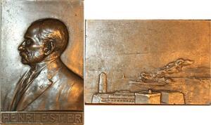 P0473 Rare Plaque Henri Estier Président Construction Armateur Cargo Ship SUP