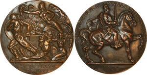 P0486 Rare Médaille Ecuador Centenario Batalla Pichincha Cavalier 1822 1922