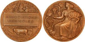P0490 Médaille Associations Agricoles Ministere Agriculture Science SUP