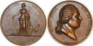 P0516 Médaille Louis XVIII Aux Armes Utiles Gayrard Paris -> F offre