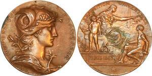 P0519 Médaille Daniel Dupuis Paris Exposition Universelle 1889 Paris -> F offre