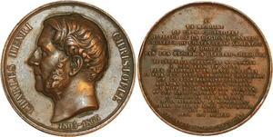 P0523 Médaille Charles Henri Christofle Officier Légion d'Honneur 1863 Barre