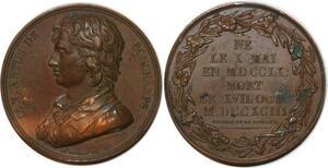 P0531 Rare Médaille USA Charles de Bonchamps 1740-1793 Puymaurin SUP