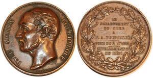 P0535 Médaille Paul Adrien Bourdalouë Departement du Cher Bourges 1855