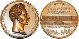 P0538 Rare Coffret Médaille Louis Antoine Artois duc Angoulême Trocadero