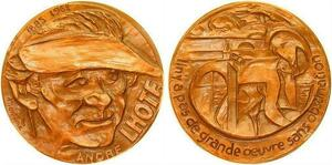 P0543 Rare Médaille Andre Lhote 1885 1962 par René Montane Peintre 1971  SUP