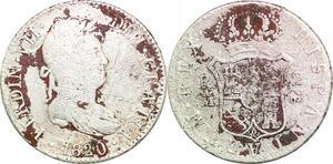 P0598 Spain 2 reales Fernando VII Madrid 1820 GJ Silver  ->Make offer