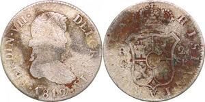 P0600 Spain 2 reales Fernando VII 1811 Cataluña SF Silver ->Make offer