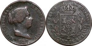 P0620 Spain 25 centimos Isabel II 1857 ->Faire offre