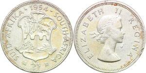 P0649 South Africa 2 1/2 Shilling Elizabeth II 1954 Silver ->Make offer