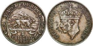 P0663 East Africa Shilling George VI 1950 silver ->Make offer
