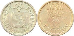 P0685 Portugal 10 Escudos 1990 UNC -> Make Offer