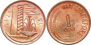 P0714 Singapore 1 Cent 1982 Two Stalks Paddy UNC-> Make offer