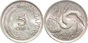 P0716 Singapore 5 Cents non-magnetic 1984 UNC ->Make offer