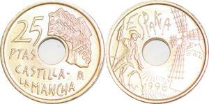 P0727 Spain 25 Pesetas Castilla-La Mancha Commemorative 1996 UNC ->Make offer