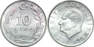 P0758 Turkey 10 Lira Mustafa Kemal Atatürk 1985 UNC ->Make offer