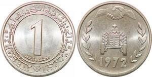 P0775 Algeria 1 Dinar Fao Land Reform Commemorative 1972 UNC -> Make offer