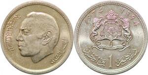 P0777 Morocco 1 Dirham Hassan II 1394 1974 UNC ->Make offer