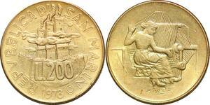 P0809 San Marino 200 Lire Stone Mason 1978 FDC -> Make offer